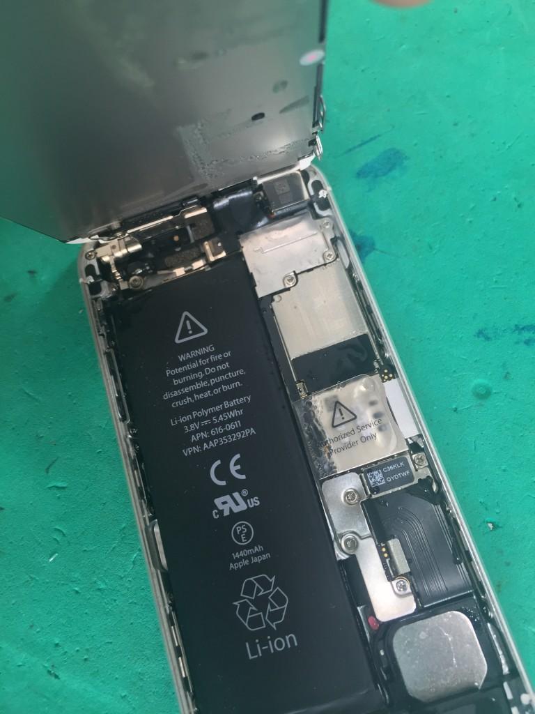 iPhone5s水没-本体