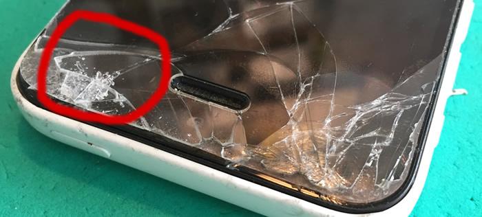 アイフォン5c画面割れ1-1